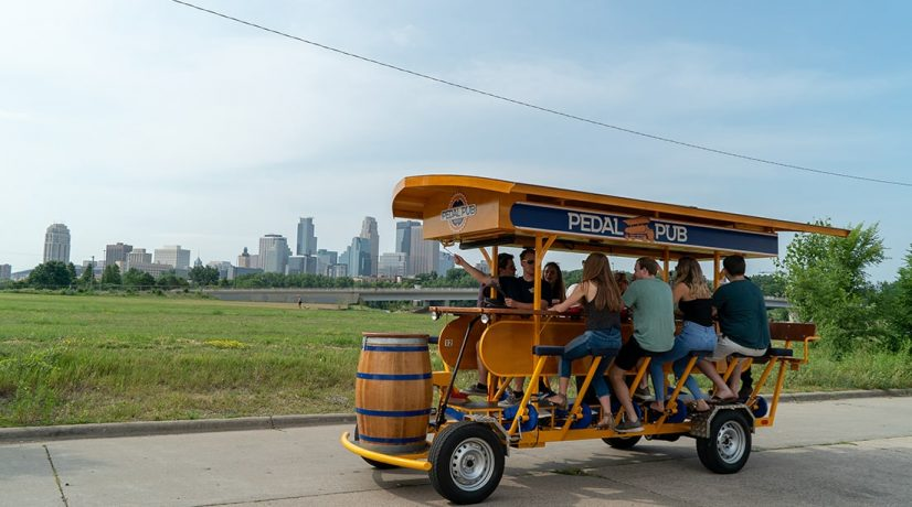 15 person Dutch party bike rides through Calgary