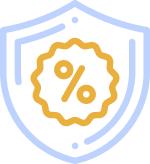 shield with percent sign illustration