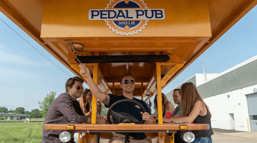 pedal pub driver and group