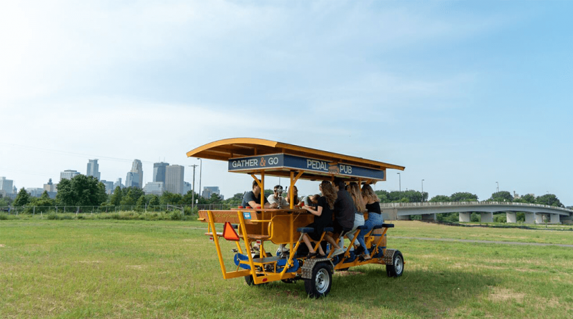 pedal pub open during winter