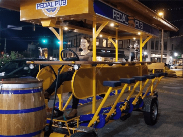 pedal pub bike in bloomington indiana