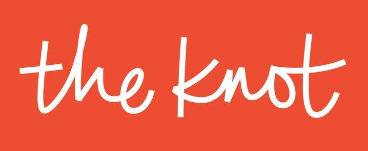 the knot branding on orange background